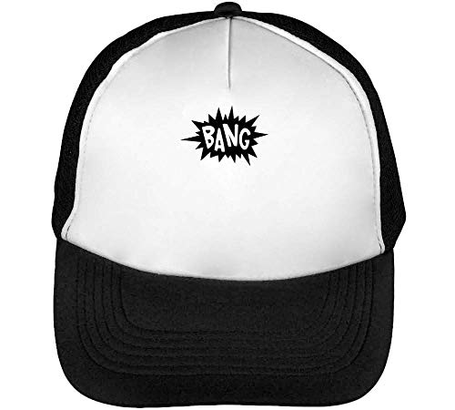 Bang Gorras Hombre Snapback Beisbol Negro Blanco
