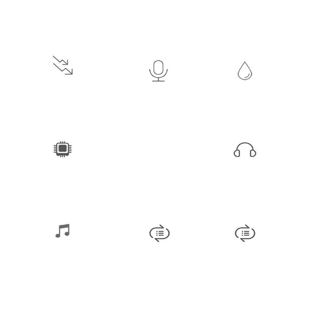 codemack Wireless Bluetooth Headsets, Mini HiFi Waterproof Handsfree in-Ear Earphones Headphones for iPhone & Android