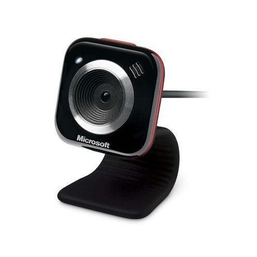 Microsoft LifeCam VX-5000 Webcam  (Red - Microphone Microsoft Webcam With