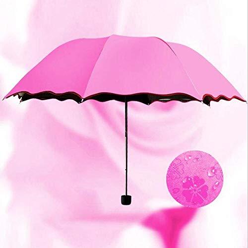 - Travel Parasol Folding Rain Windproof Umbrella Folding Anti-UV Sun/Rain Umbrella for Women Ladies Automatic Rain Proof