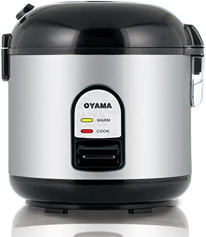 Oyama CFS-F10B 5 Cup Rice Cooker, Stainless Black