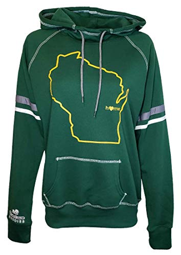 Orange Arrow Womens Wisconsin Home Jacket (W, 2XL, Green) - Packers Sweatshirt by Hometown Hoodies
