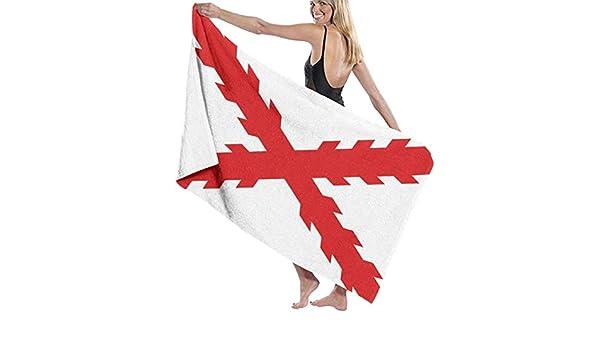 Toalla de microfibra con bandera de cruz de borgoña para piscina ...