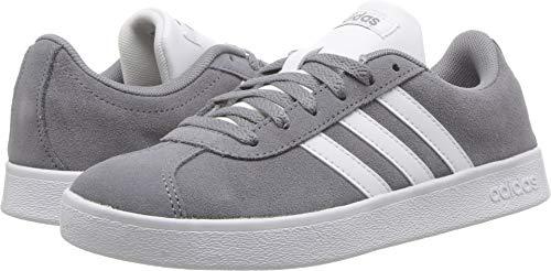 - adidas Kids' VL Court 2.0 Sneaker, Grey/White/Grey, 5 M US Big Kid