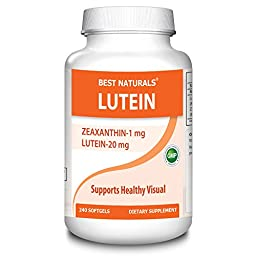 #1 Lutein 20 mg 240 Softgels by Best Naturals