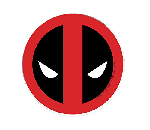 Classic DEADPOOL Head Shot, Officially Licensed Marvel Extreme Artwork, 4' - Long Lasting Sticker Pegatina DECAL 4 - Long Lasting Sticker Pegatina DECAL Officially Licensed & Trademarked Products S-MVL-0014