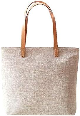 LANDONA hechos a mano bolsas de tela sencilla Sen femenina bolsa ...