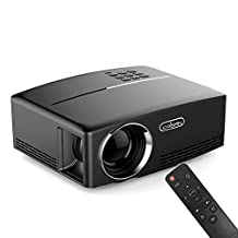 "ERISAN 2017 Portable LED Projector, 1800 Lumens 180"" for Outdoor Indoor Movie Night, Support Blu-Ray DVD Player, PC, Laptop, XBOX PS3 PS4 HD Games"