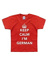 Nutees Keep Calm I'm German, Germany Funny Unisex Kids T Shirts Ages 1-15 Years