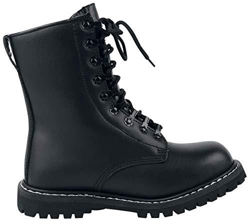 Mens Boots Combat Brandit Negro Mit Futter UEwOqd