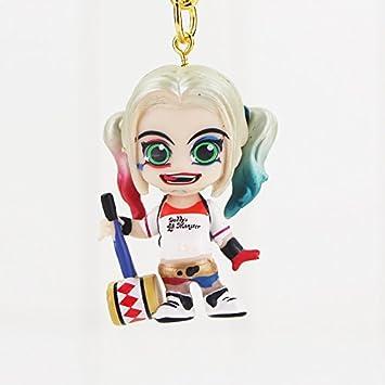 Suicide Squad Llavero 3D PVC Figura Harley Quinn con Mazo o ...