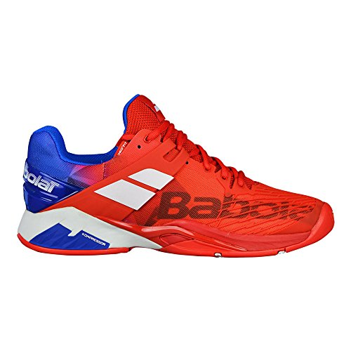 Babolat Men`s Propulse Fury All Court Tennis Shoes-10.5 D(M) US-Bright Red/Electric Blue