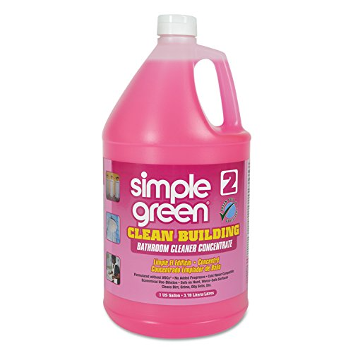 (Simple Green 11101CT Clean Building Bathroom Cleaner Concentrate, Unscented, 1gal Bottle)