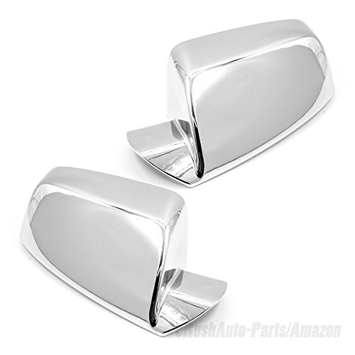 eRushAutoparts Ultra Chrome TOP HALF Mirror Covers For 2010-2017 Chevrolet Equinox / 2011-2017 GMC Terrain