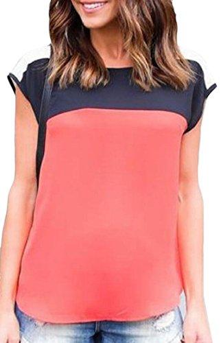 Area Womens Cap Sleeve T-shirts - Generic Women's Top, Casual Cap Sleeve Chiffon Top T-Shirt Blouse Tee 1 S