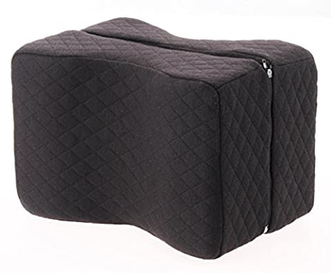 Knee Pillow Wedge - Sciatica Pain Relief - Hip, Leg, Knee, Back and Spine Alignment - Memory Foam Orthopedic Leg Pillow with Washable (Walmart Beactive Brace)