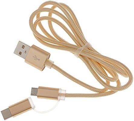 Gazechimp 1x USB 3.0 Tipo C Micro USB Cable de Carga de Datos ...