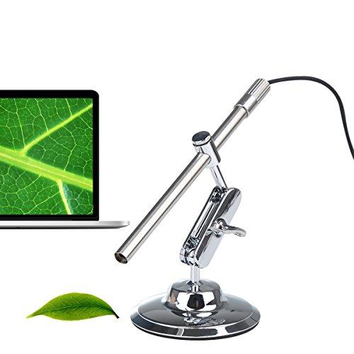 Shekar Android USB Mikroskop Digital 2 in 1 Tragbare IP67 Wasserdicht Inspektionskamera Endoskop mit 200-facher Vergrößerung, 6 LEDs, für Mac, Windows PC und Android mit OTG