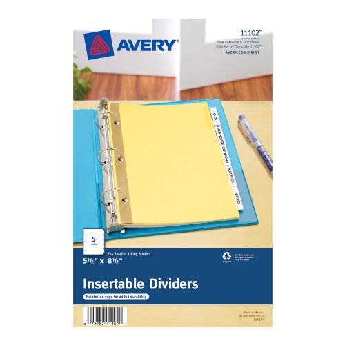 Ave11903 avery worksaver plastic pocket insertable tab for Avery template 11903