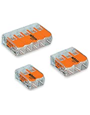 Wago 2 Port (10) 3 Port (10) 5 Port (5) 221 Splicing Connector, Lever-Nut Assortment Pocket Pack for All Wire 12-24 AWG