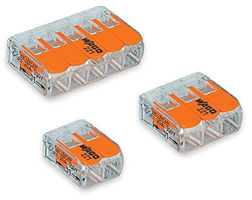 /413/ 10/x WAGO palanca Splice conector 221/serie 221/ /3/way TERMINAL