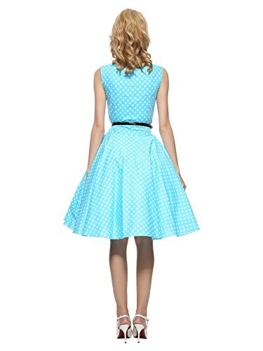 Blue Rockabilly Dress Women's Vintage 1950S Maggie Tang xqCHwOYY