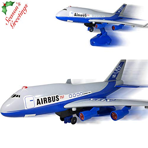 Operated Airplane Toy for Boys and Girls – Bump N Go, Ascending and Descending Modes with Realistic Sounds - Airbus Model Airplane – The Best Preschool Toy for Kids! (Age 3+) ()