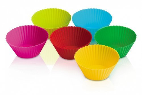 Zeal Bake & Serve Standard Silicone 3'' Muffin / Cupcake Cups / Cases - Set of 6