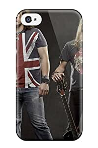 New Style Scratch-free Phone Case For Iphone 4/4s- Retail Packaging - Black Stone Cherry 4783382K37570593