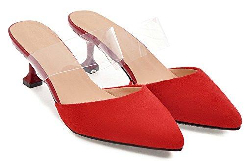Talon Chaussure Easemax Aiguille Rouge Mules Elégant Pointue Femme Club ZHHxIaqPw
