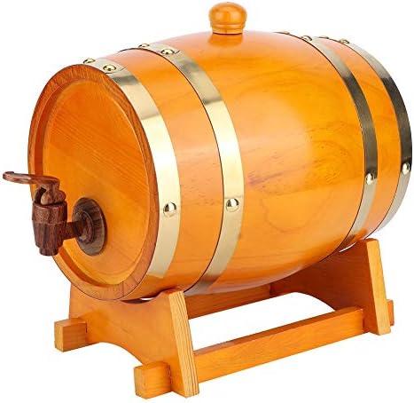 ビール樽、3Lホームビール醸造設備ヴィンテージパインウッドビール樽木製ワイン樽醸造アクセサリー(オレンジ)