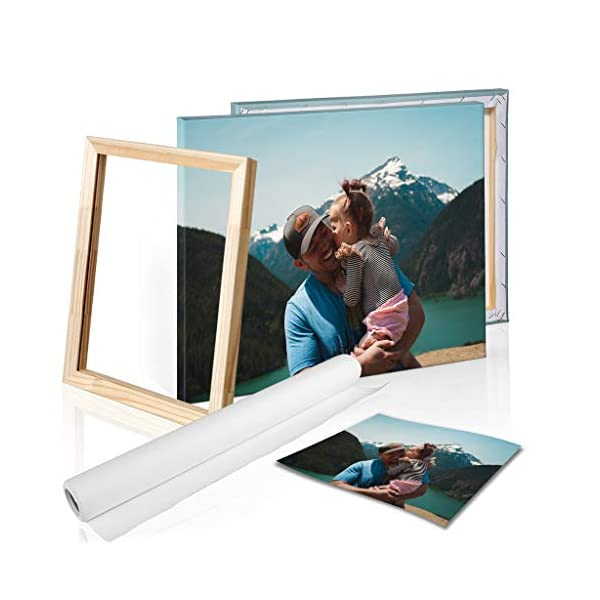 DON LETRA Cuadro en Lienzo Personalizado con Foto o Imagen, 40 x 30 cm, Impresión en Lienzo sobre Bastidor, Cuadros de… 2