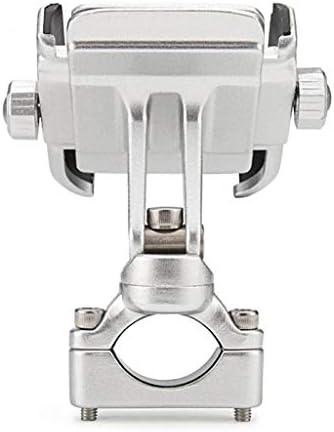 CXZA 4-6' 携帯電話のGPSシルバーのために360度オートバイのハンドルバーマウントホルダー
