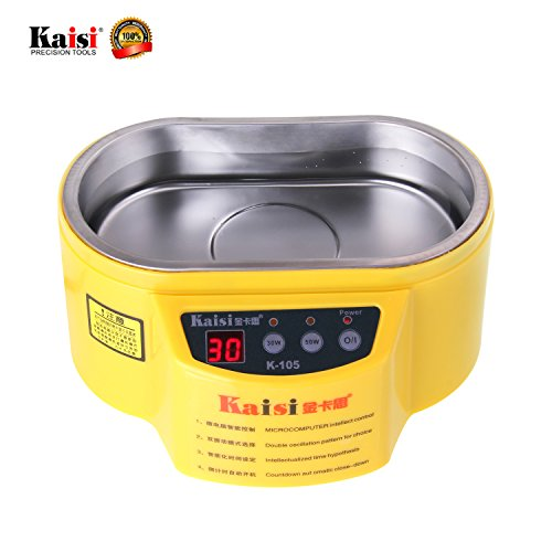 Kaisi K-105 Jewelry Cleaner Professional Ultrasonic Cleaner with Digital Timer for Cleaning Rings, Eyeglasses, Tools, Watch, Necklaces, Coins, Razors, Combs, Tools, Parts, Instruments