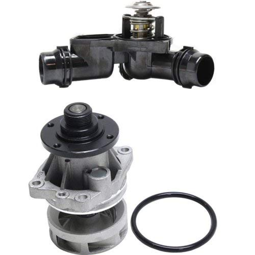 Water Pump for 5-Series 01-05/3-Series 01-06 Set of 2 W/Thermostat (05 5 Bmw Series)