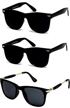 57e9a50c60b Sheomy UV Protected Wayfarer Men s and Women s Sunglasses with 3 ...
