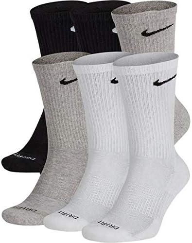 6 Pair Dri-Fit Nike Training Socks Dry Cushioned No Show Size MEN 8-12 WMN 10-13