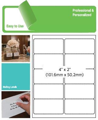 80-UP 100 Sheets Sheet Label FBA SKU Shipping Mailing Label for Laser/Inkjet Printer (White) Linkage Labels Inc.