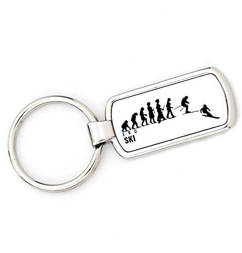 Damen Evolution Schlüsselanhänger Ape zu und (Ski)–Damen Schlüssel Ring Geschenk