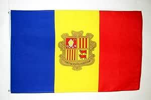 AZ FLAG Bandera de Andorra 150x90cm - Bandera ANDORRANA 90 x 150 cm: Amazon.es: Hogar