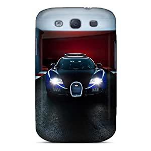 Rugged Skin Case Cover For Galaxy S3- Eco-friendly Packaging(bugatti Veyron Wallpaper)