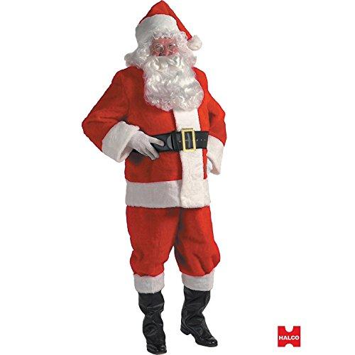 Halco Plush Complete Santa Suit in a Box Set - Standard Size 42-48