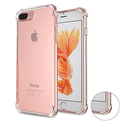 iPhone 7 Case, VL Anti-Scratch Crystal Clear Case, [Shock Absorption] Transparent Hard Plastic Back Plate and Soft TPU Gel Bumper [Four Corner FULL Protection ] Cover for iPhone 7 (Clear)