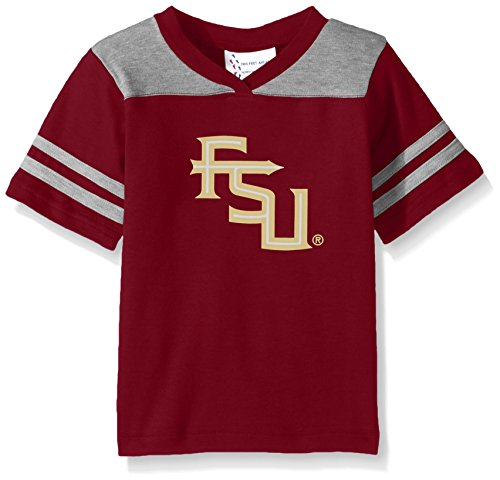 Two Feet Ahead NCAA Florida State Seminoles Toddler Boys Football Shirt, Crimson, 4 (Florida State Seminoles Football Jersey)