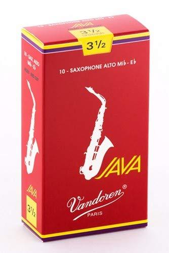 Alta Single - Vandoren SR2635R Java Filed Red Cut Alto Saxophone Reeds (Strength 3.5) (Single)