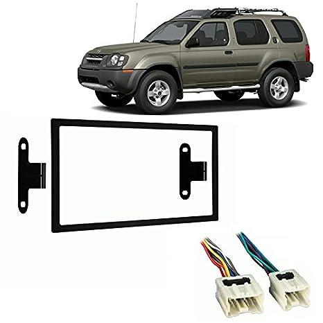 amazon com: fits nissan xterra 2000-2004 double din stereo harness radio  install dash kit: car electronics