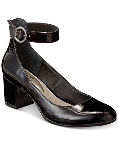 Alfani Womens Ashiaa Ankle-Strap Pumps Black Patent 7.5W wiu5Kuwc4b