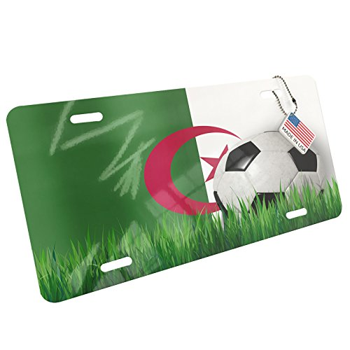 Metal License Plate Soccer Team Flag Algeria - Neonblond by NEONBLOND