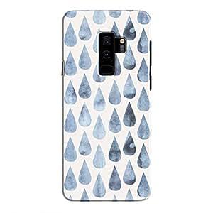 Cover It Up - Raindrops Print Denim Galaxy S9 Plus Hard Case