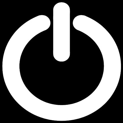 Amazon Com Power Button Sign Symbol Vinyl Decal Sticker L 01